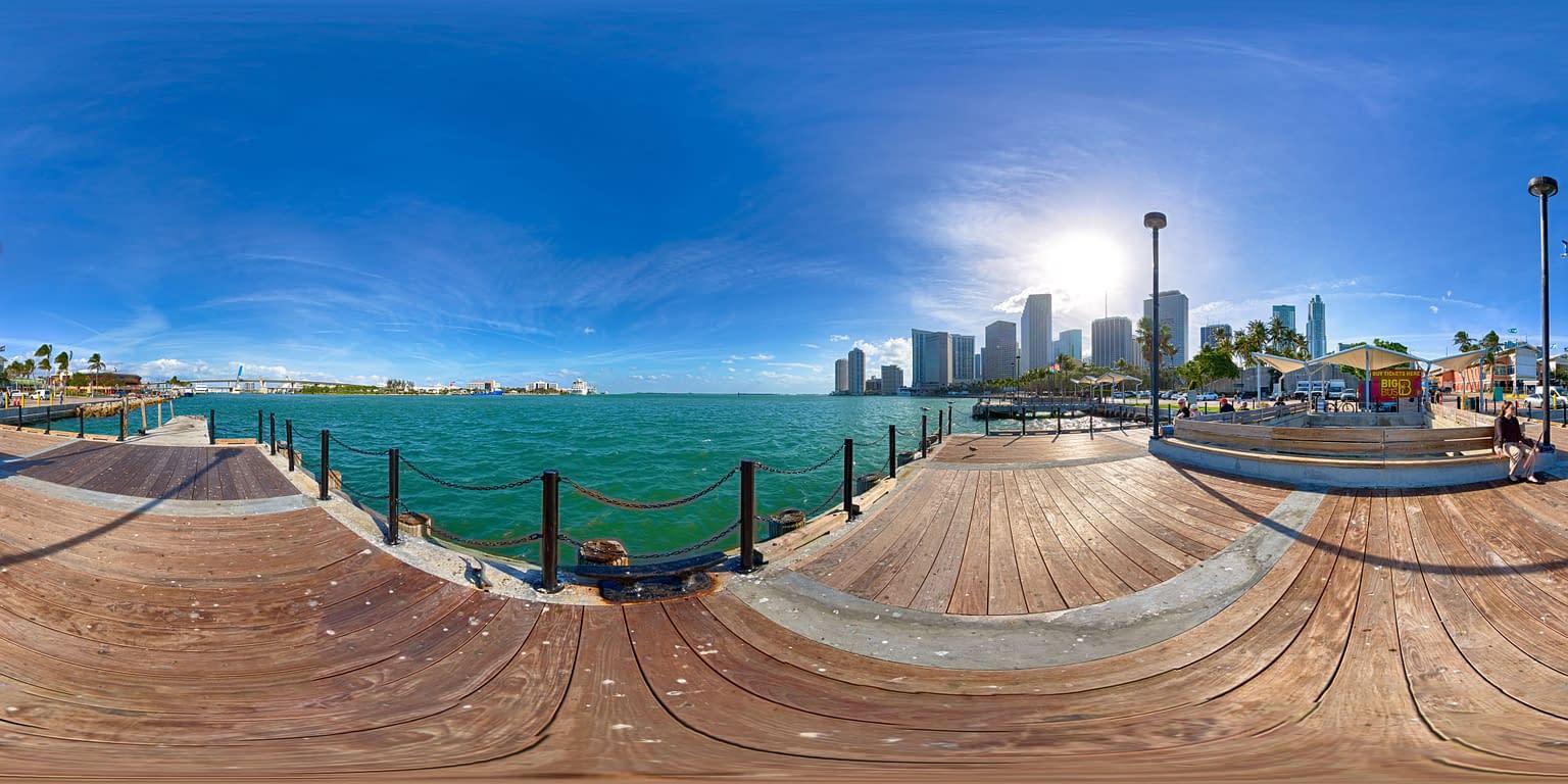 Miami bayside 360 virtual tour 360 panorama